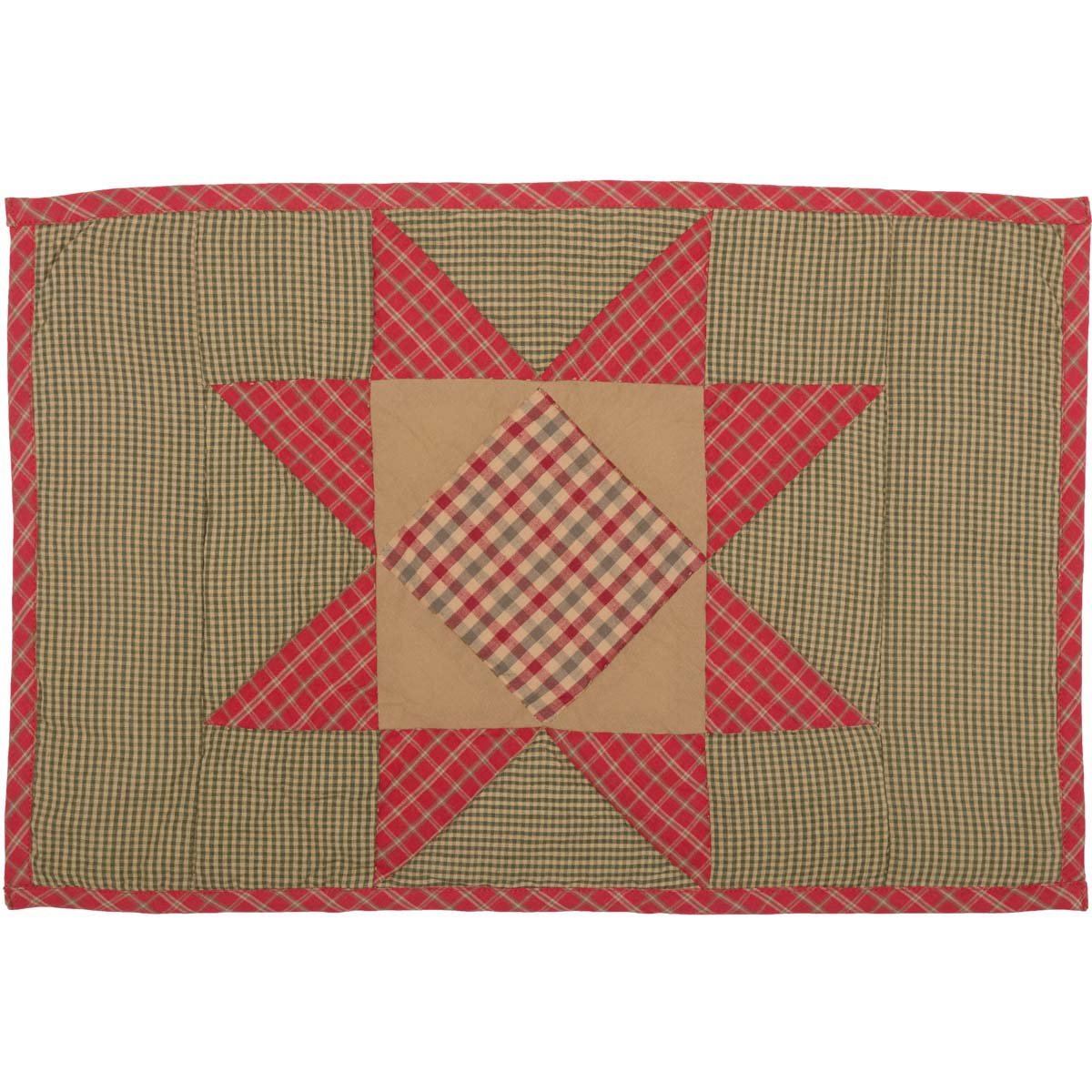 Dolly Star Quilted Placemat Set of 6.