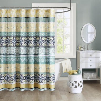 Arissa 100% Microfiber Printed Shower Curtain.