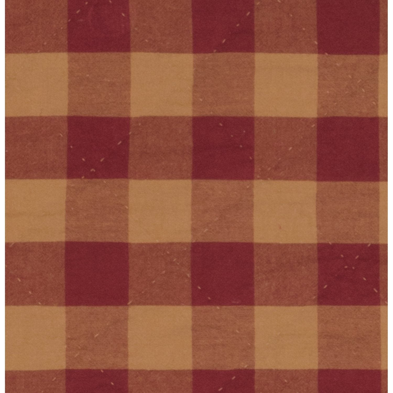 Burgundy Check Coverlet.