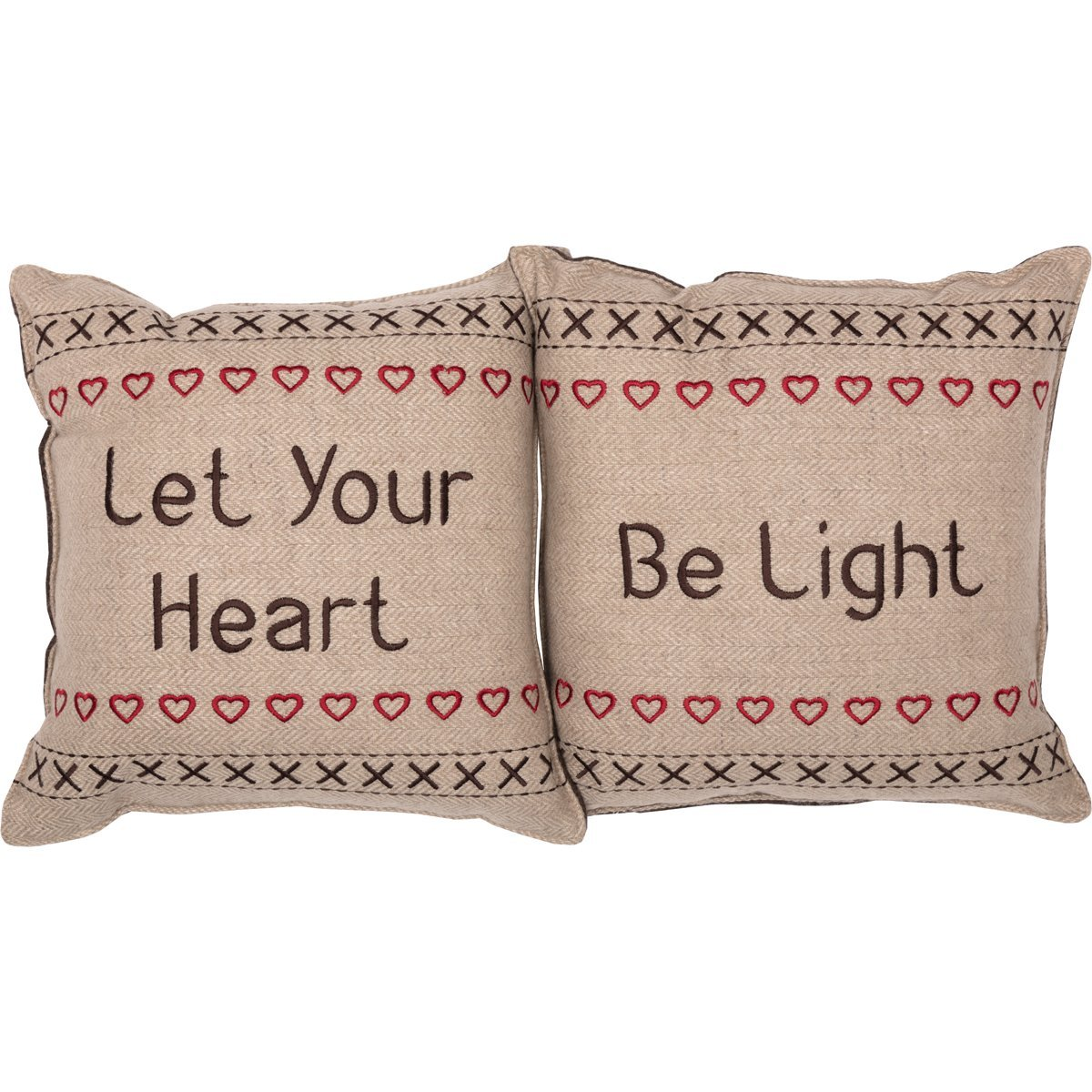 Merry Little Christmas Pillow Let Your Heart Set of 2.