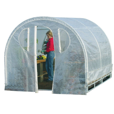 Polytunnel Hoop House Style Greenhouse (8' x 8').