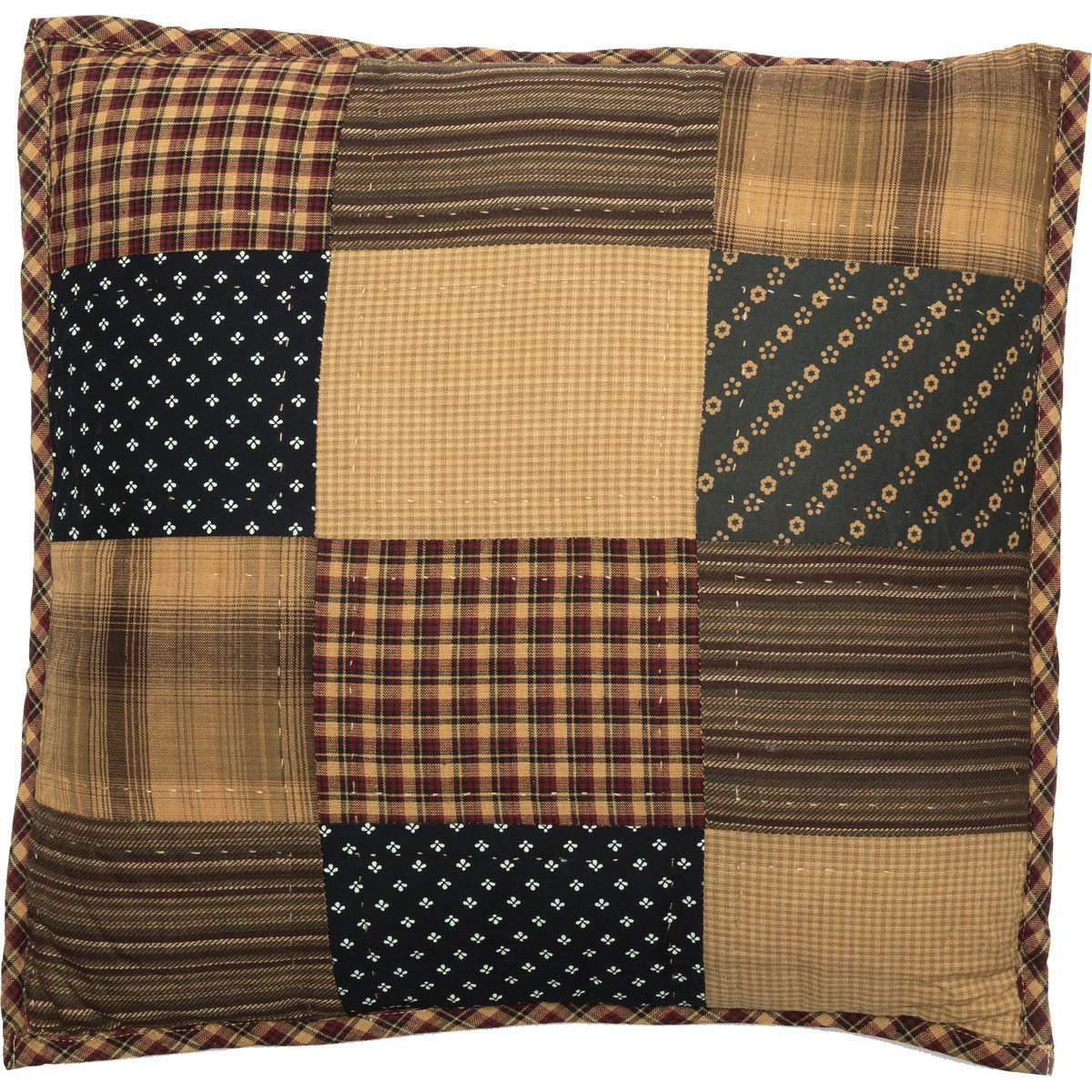 Patriotic Patch Quilted Pillow.
