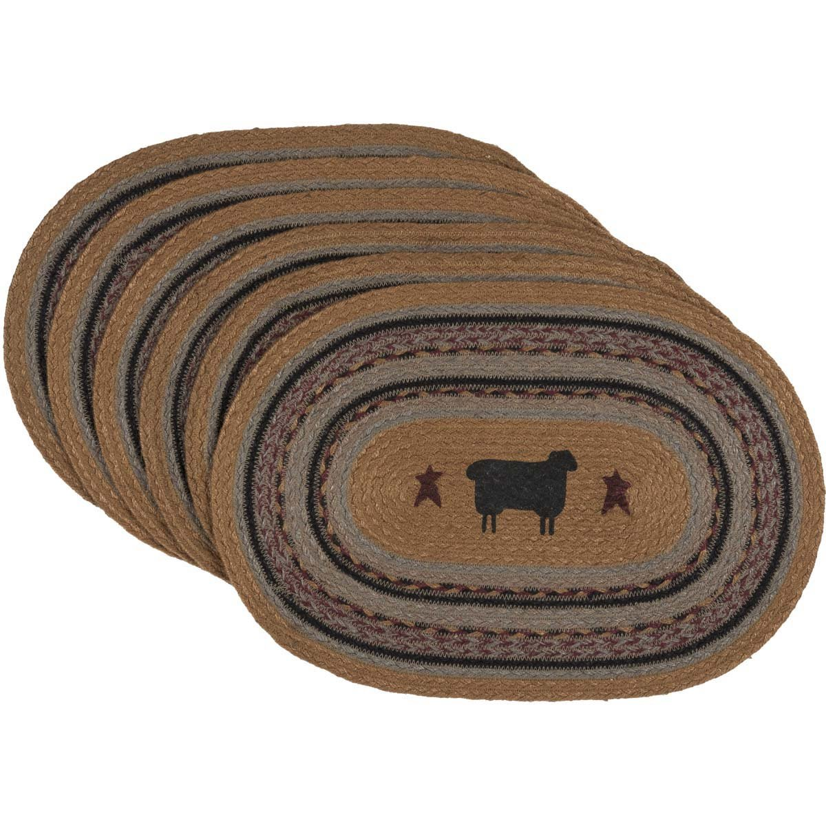 Heritage Farms Sheep Jute Placemat Set of 6