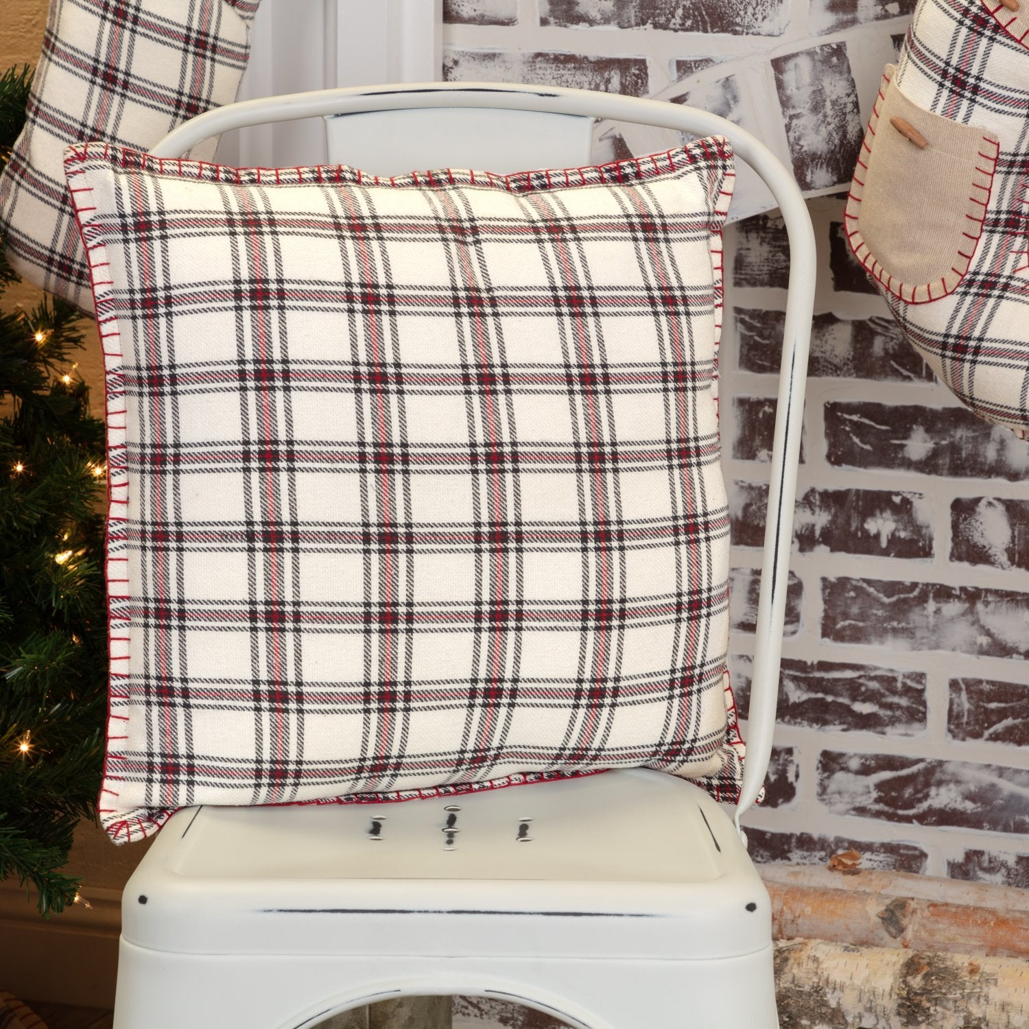 Amory Plaid Pillow.