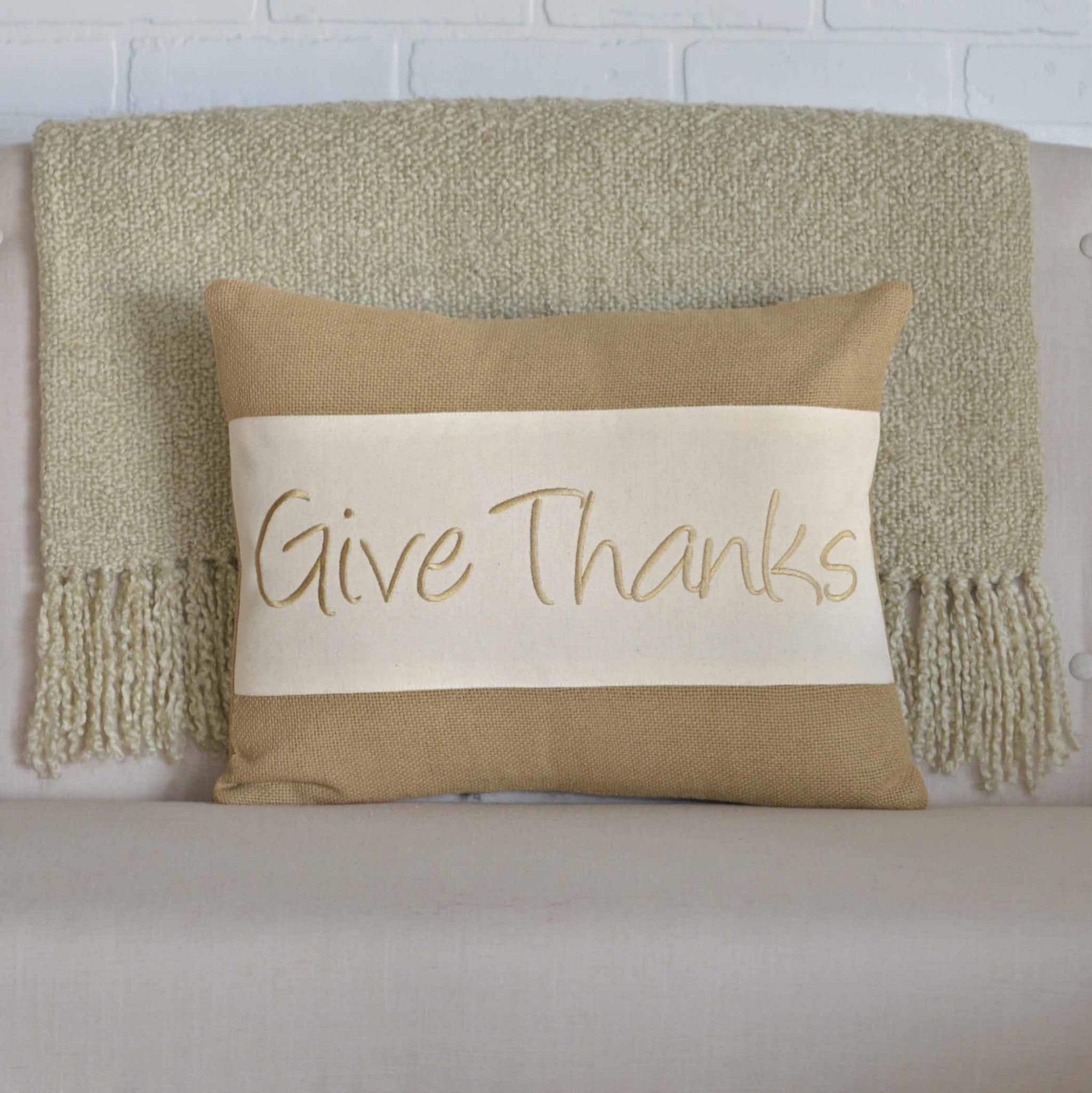 Give Thanks Pillow.