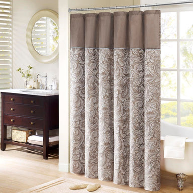 Aubrey Jacquard Shower Curtain.