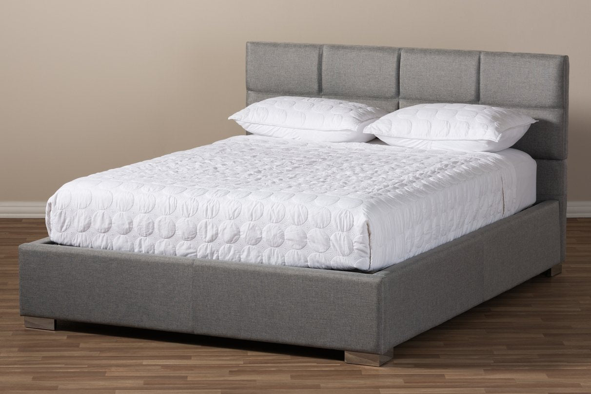 Kate Fabric Upholstered Platform Bed