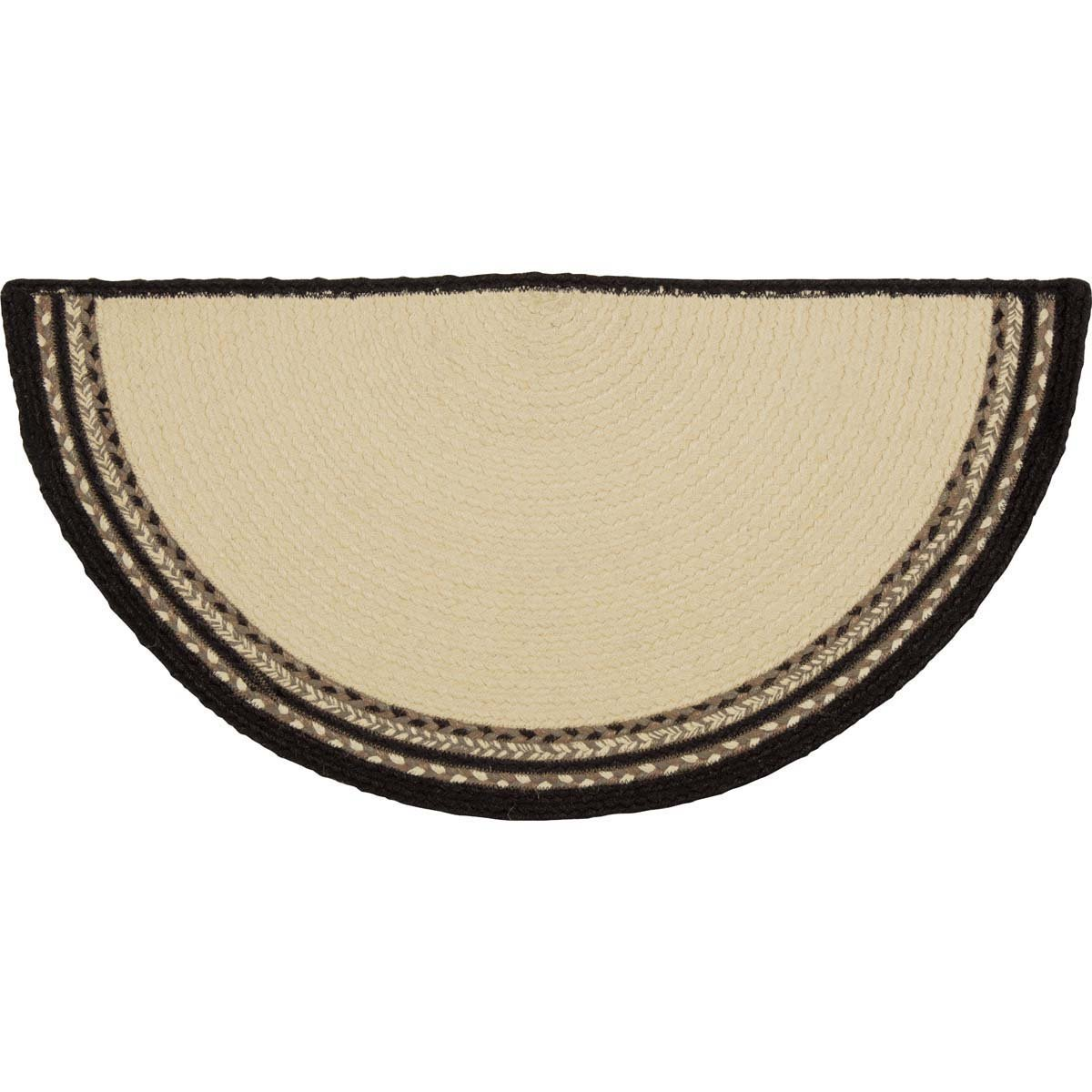Sawyer Mill Charcoal Pig Jute Rug Half Circle.
