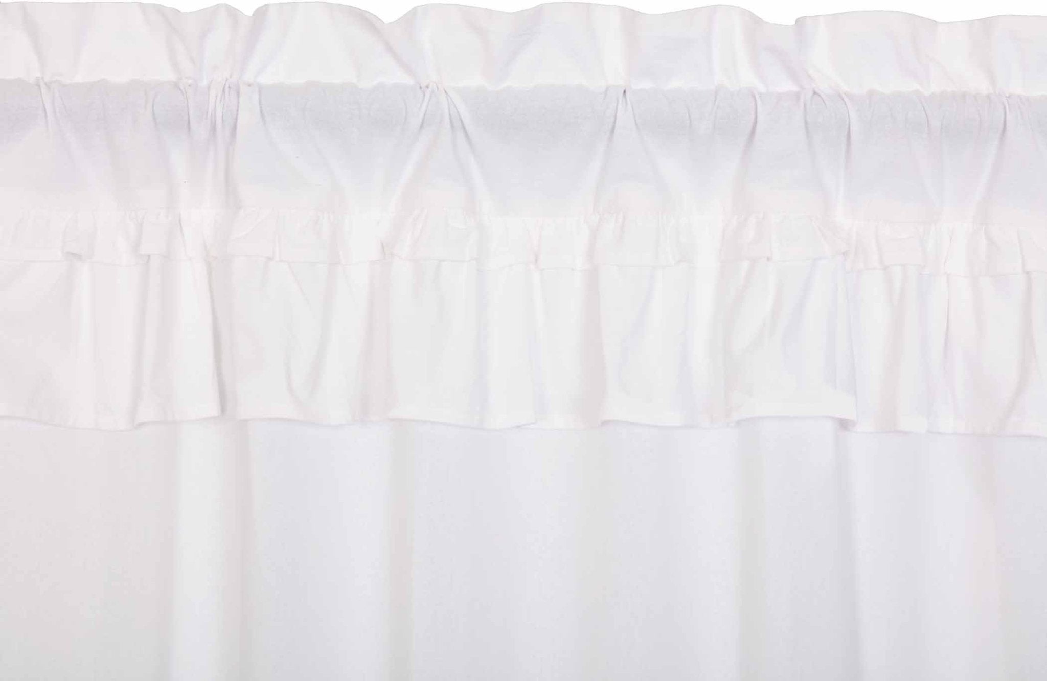 Muslin Ruffled Bleached White Panel.