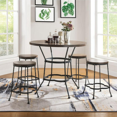 Fatima Counter Height Table Set (5-Piece).