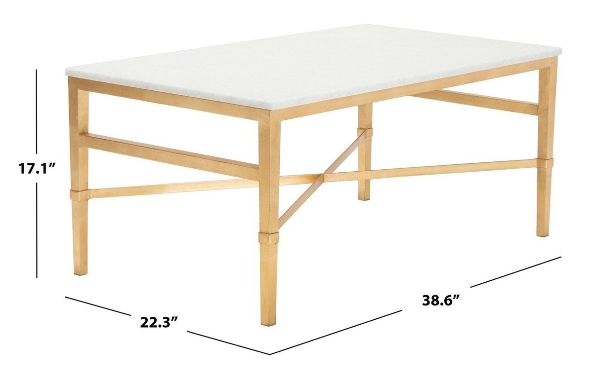 Acker White Marble Cocktail Table