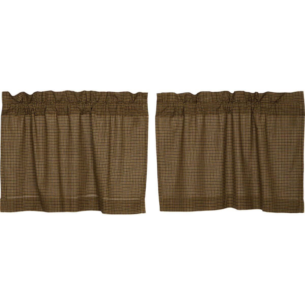 Tea Cabin Green Plaid Tier Set of 2