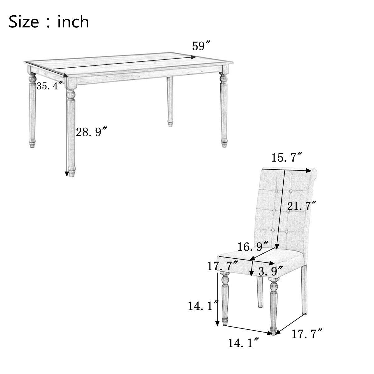 Schuhbeck Dining Table Set (7-Piece).