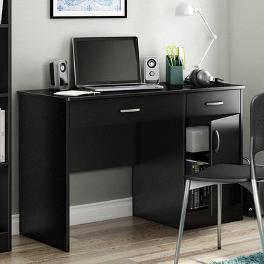 Home Office Work Desk in Black Finish.