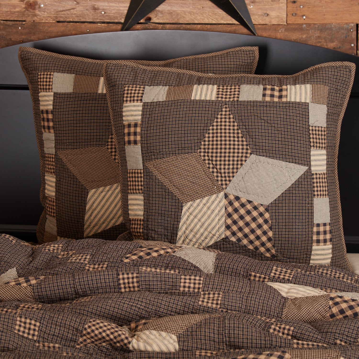 Farmhouse Star Euro Sham Quilted