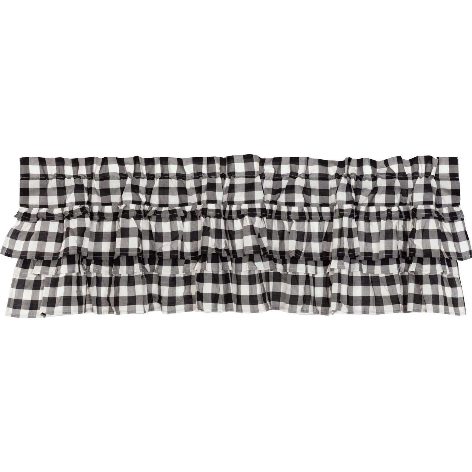 Annie Buffalo Black Check Ruffled Valance