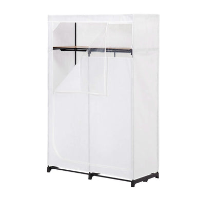46-inch White Portable Closet Clothes Organizer Wardrobe.