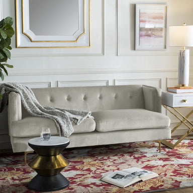 Luciana Diamond Tufted Velvet Sofa.