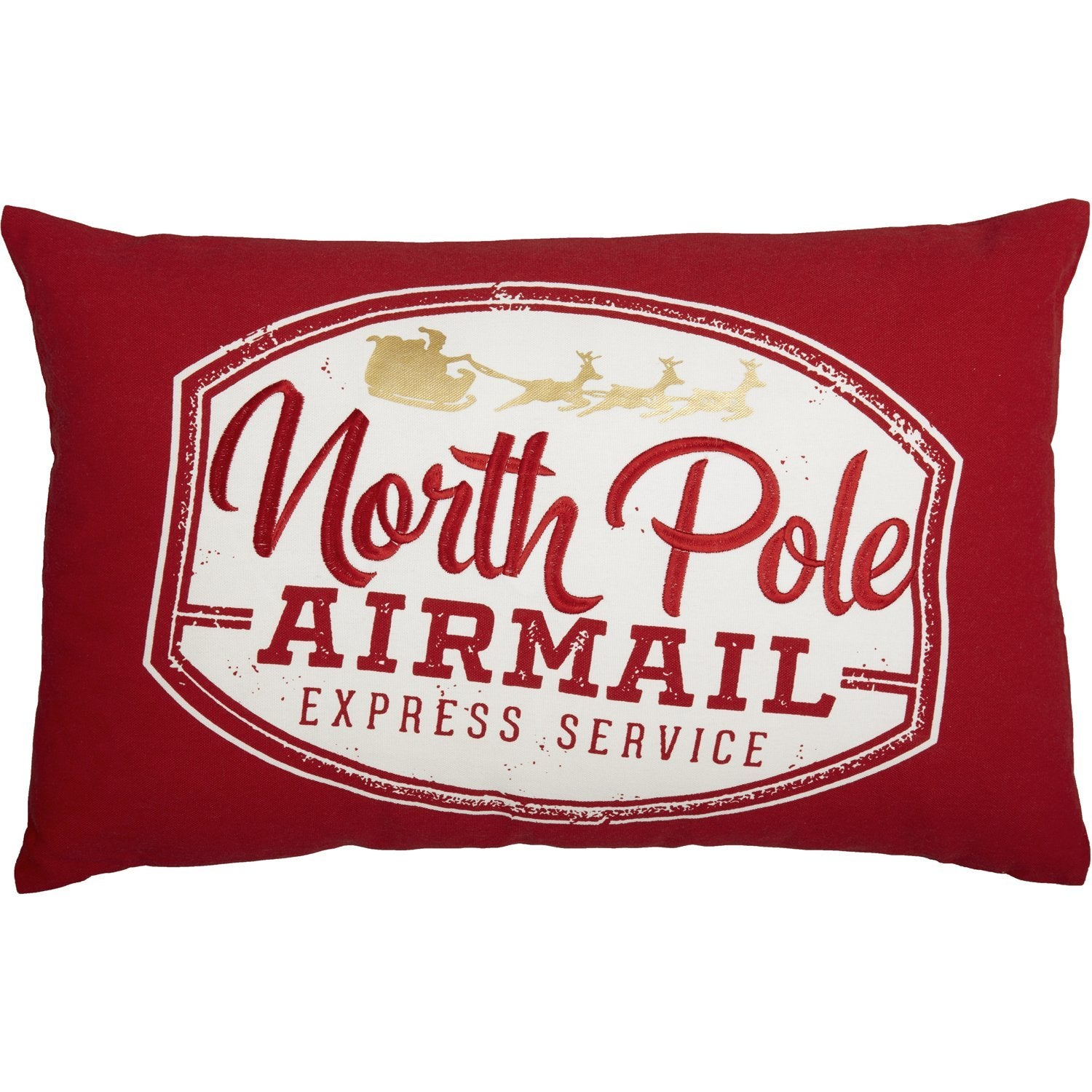 North Pole Airmail Pillow Cover.