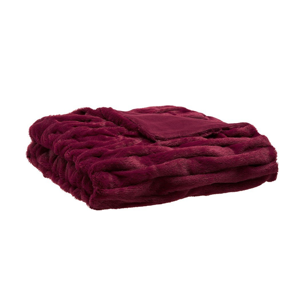 Luxury Ruched Fur Throw