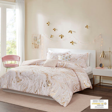 Rebecca Metallic Printed Duvet Cover Set.