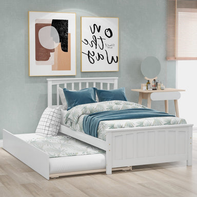 Rodgers Platform Bed with Trundle.