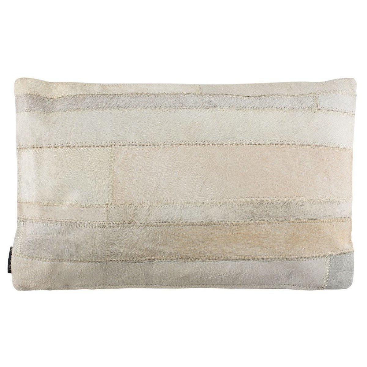 Ruled Cowhide Pillow.