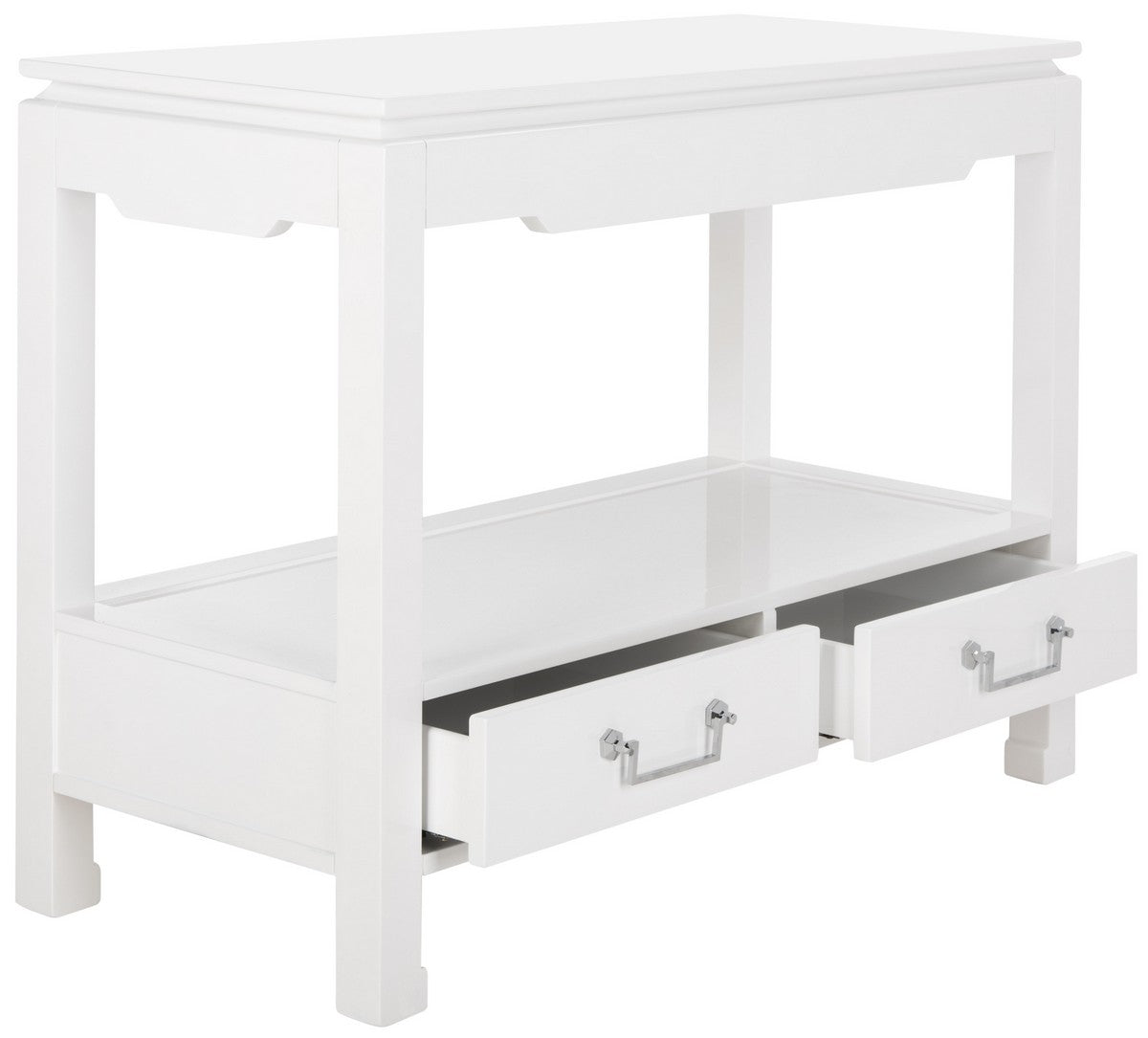 Corbell 2 - Drawer Lacquer Console Table.