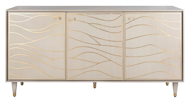 Broderick Antique Gold Wave Sideboard.