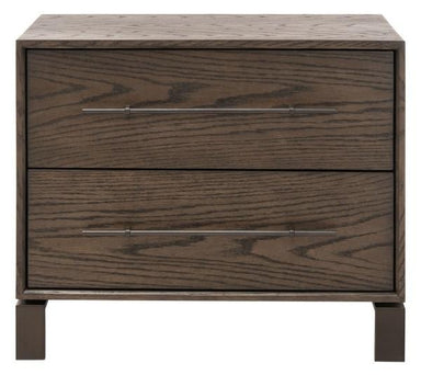 Simmons 2 Drawer Wood Nightstand