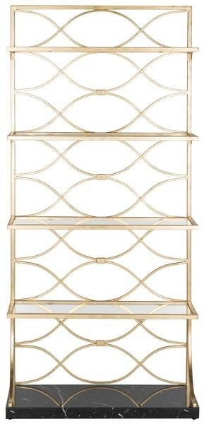 Spano 4 Glass Tier Marble Base Etagere.