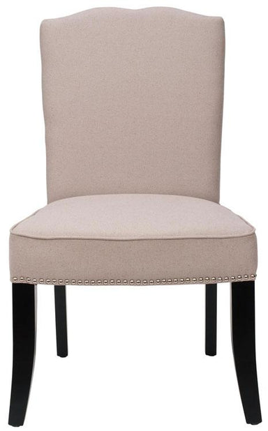 Terrie 18''H Linen Side Chair - Nickel Nail Heads (Set Of 2)