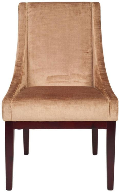 Velvet Sloping Arm Chair
