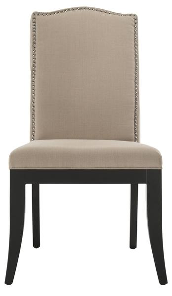 Wayne 18''H Linen Side Chair - Nickel Nail Heads (Set Of 2)
