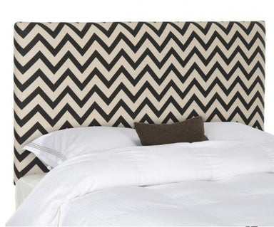 Ziggy Black & White Zig Zag Headboard.