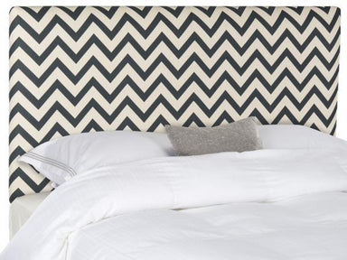 Ziggy Navy & White Zig Zag Headboard.