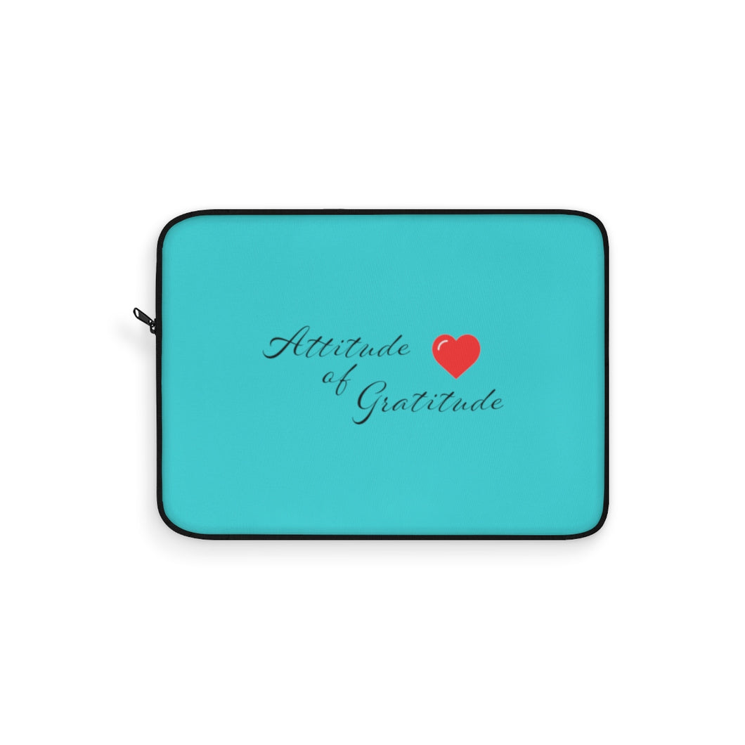 Attitude Of Gratitude - Heart Laptop Sleeve