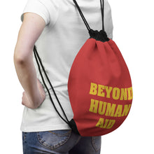 Load image into Gallery viewer, Beyond Human Aid Drawstring Bag