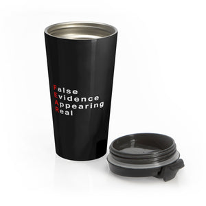 Fear Stainless Steel Travel Mug