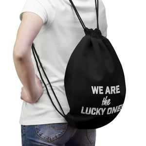 We Are The Lucky Ones Drawstring Bag