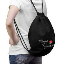 Load image into Gallery viewer, Attitude Of Gratitude - Flower Drawstring Bag