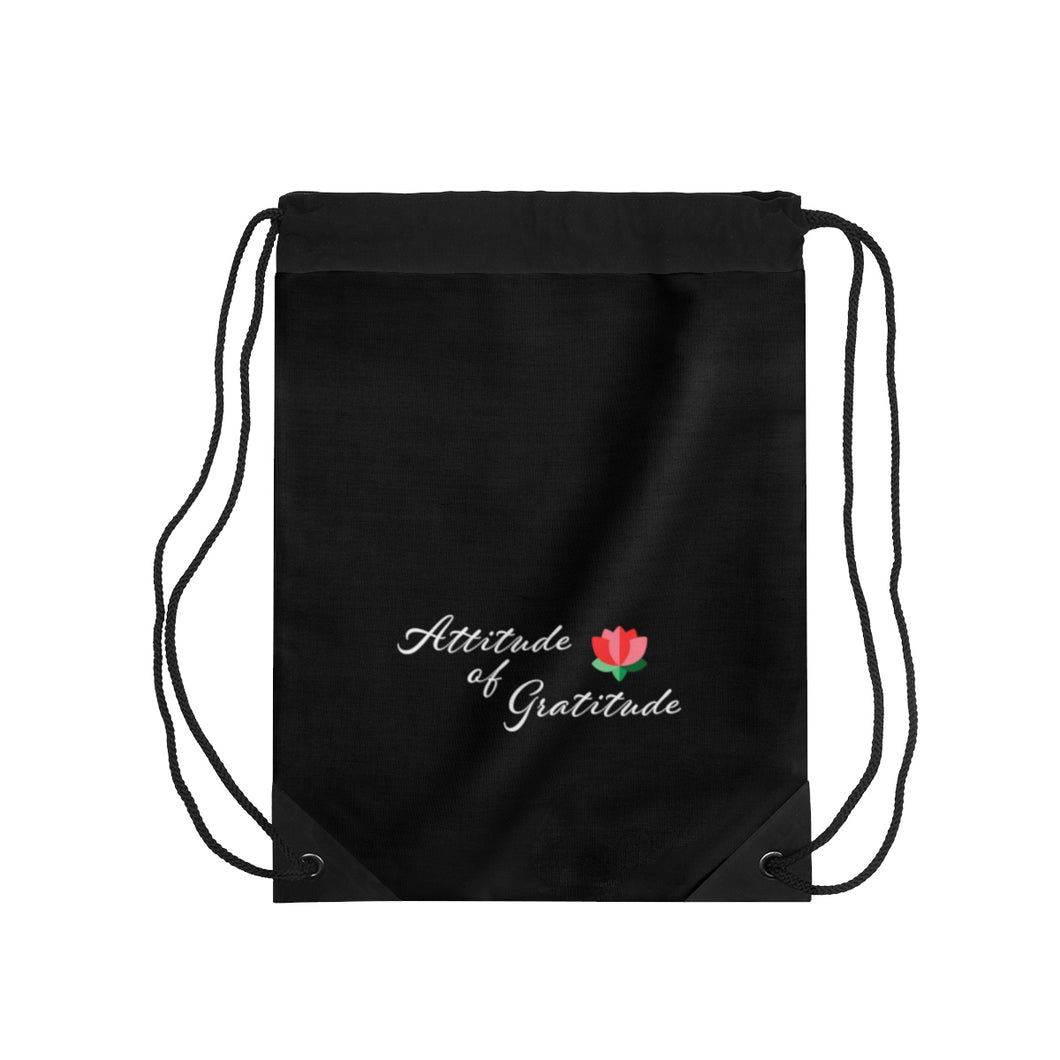 Attitude Of Gratitude - Flower Drawstring Bag