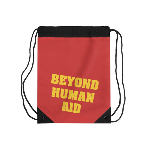 Beyond Human Aid Drawstring Bag
