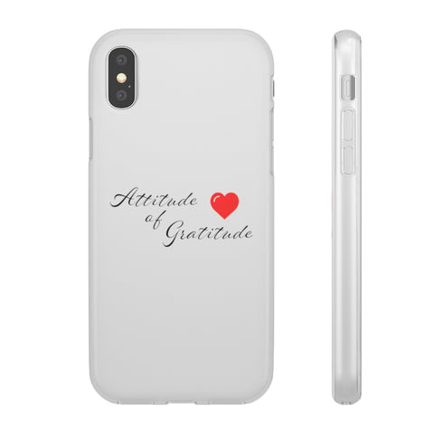 Attitude Of Gratitude - Heart Phone Case
