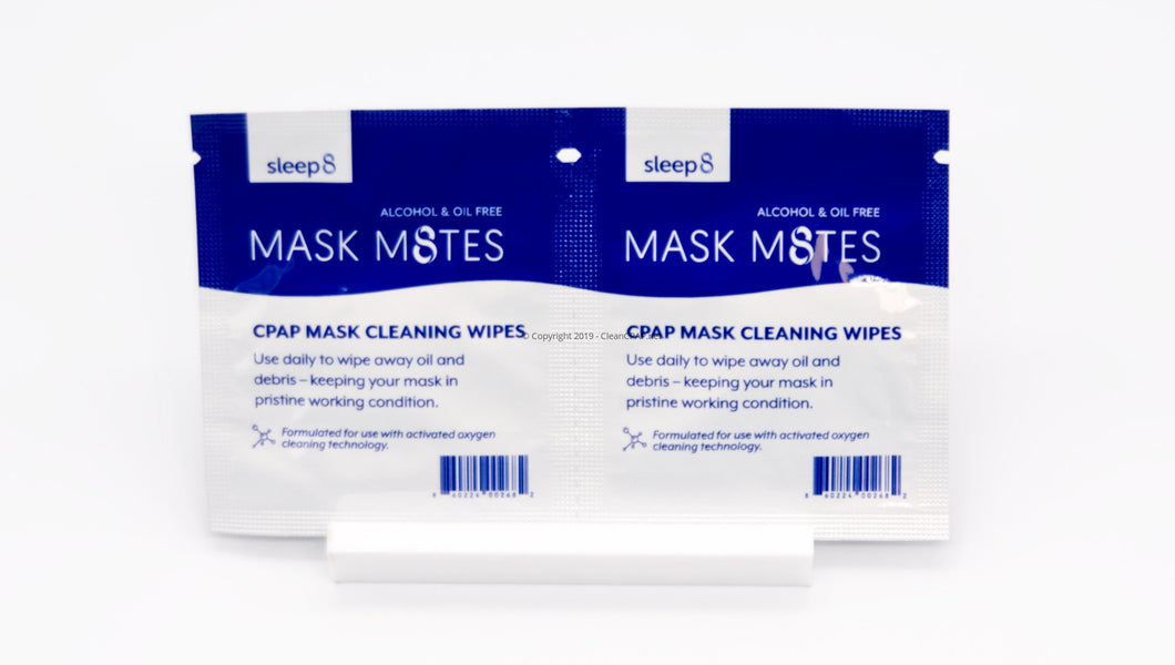 Sleep8 Mask M8tes Travel Cpap Wipes 30 Count