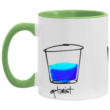 Load image into Gallery viewer, Optimist. Pessimist. Artist. Mug Illustration by pierre bennu (accent colors)