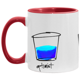 Optimist. Pessimist. Artist. Mug Illustration by pierre bennu (accent colors)