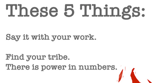 """These 5 Things"" 12x16 affirmation poster by pierre bennu"