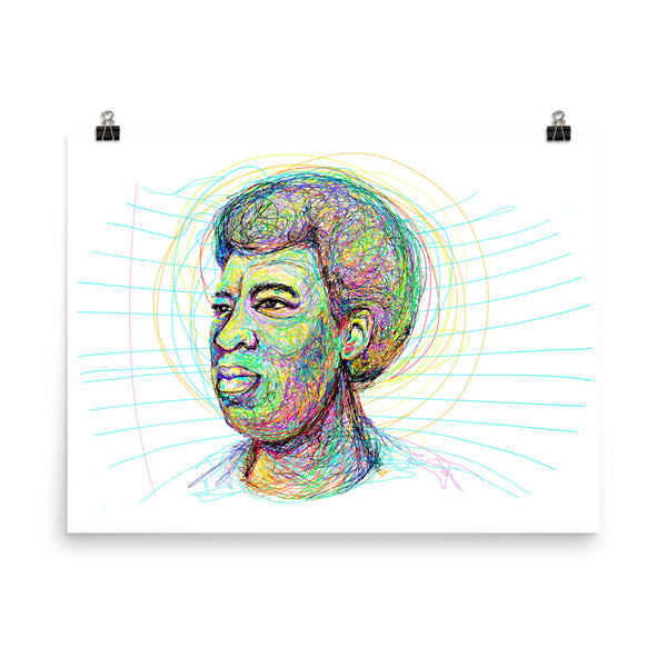 """I Write To Create Myself"" -Octavia Butler tribute 18x24 fine art print by pierre bennu"