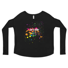 Load image into Gallery viewer, Art Life - Ladies' Long Sleeve Flowy Tee